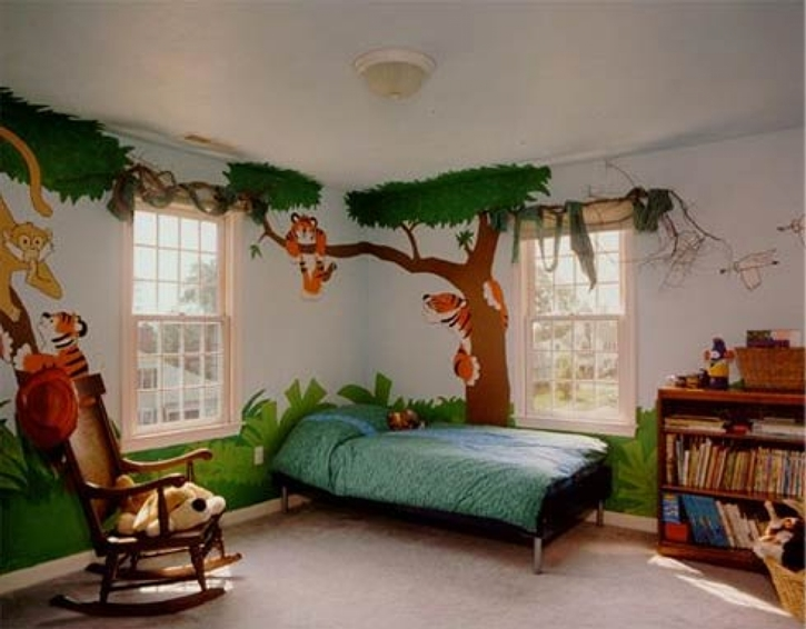 Kids-Room-decoration-along-the-tropical-rainforest-theme